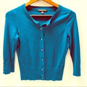 Express cardigan, 3/4 sleeve,  jewel buttons
